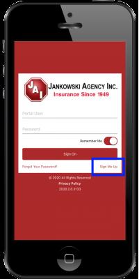 jankowski app - 2 sign me up