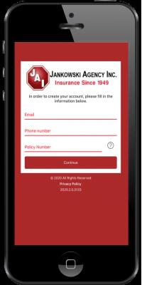 jankowski app - 3 create account