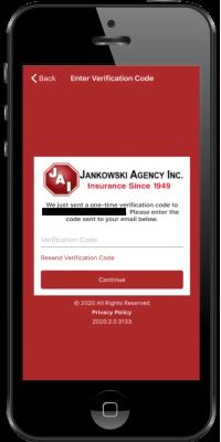jankowski app - 4 enter verification code