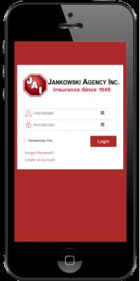 jankowski insurance app_login screen_2